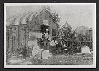 Art colony - Students at Shinnecock Hills Summer School of Art in SouthamptonNY ca.1895