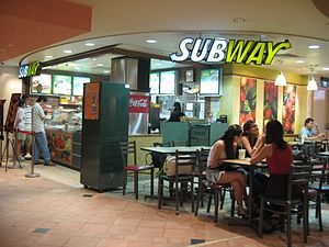 Chain store - A Subway franchise restaurant