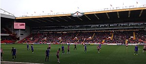 2013–14 Sheffield United F.C. season - The Blades in their 2–0 home loss to Wolverhampton Wanderers.