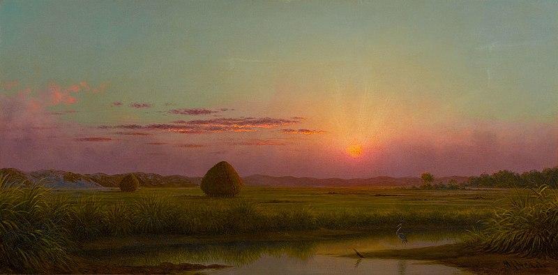 File:Sunset over the Marsh-Martin Johnson Heade.jpg