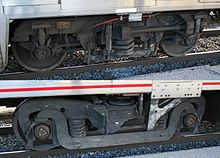 Examples of wheels beneath railcars