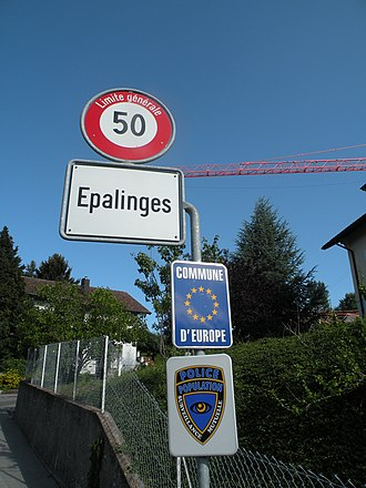 Épalinges - Entrance to the municipality