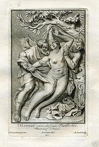Francis van Bossuit - Image: Susanna and the Elders 1727