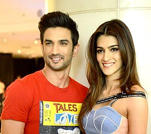 Kriti Sanon - Sanon with her co-star Sushant Singh Rajput, 2017.