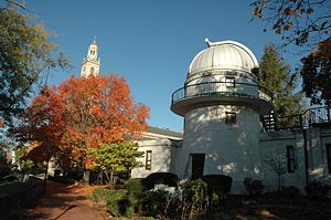Denison University - Swasey Observatory (foreground) and Swasey Chapel (background)