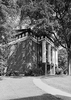 Talladega College - Built in 1857, Swayne Hall is the oldest building on campus. It was designated a National Historic Landmark on December 2, 1974.