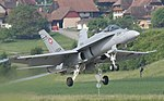 Swiss F A-18 Hornet taking off from Payerne (cropped).jpg