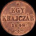 Szh 1 krajczár 1848 reverse.jpg