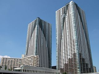 The Tokyo Towers building in Chuo-ku, Tokyo, Japan