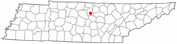 Location of Gordonsville, Tennessee