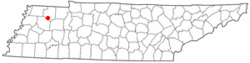 Location of Greenfield, Tennessee