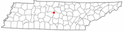 Location in Rutherford County and the state of تنسی.