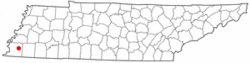 Location of Lakeland, Tennessee
