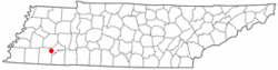 Location of Silerton, Tennessee