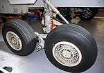 TSR2 main undercarriage, exterior view, RAF Museum, Cosford. (13700090733).jpg