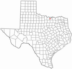 Location of Muenster, Texas