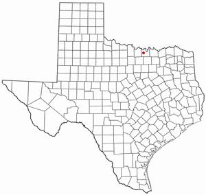 Muenster, Texas - Image: TX Map doton Muenster