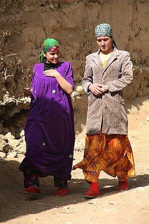 Demographics of Tajikistan - Two young Tajik women