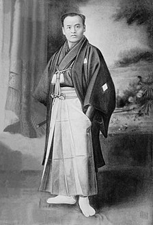 Retouched photograph of Takeda Sōkaku circa 1888