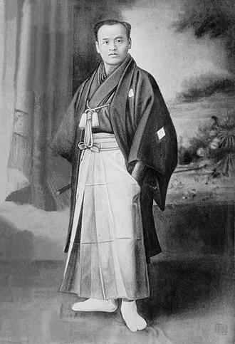 Daitō-ryū Aiki-jūjutsu - Retouched photograph of Takeda Sokaku, c.1888.