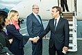 Tallinn Digital Summit. Airport arrivals HoSG Emmanuel Macron (36665681074).jpg