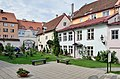 Tallinn St Peter and St Paul's Cathedral forecourt houses 02.jpg