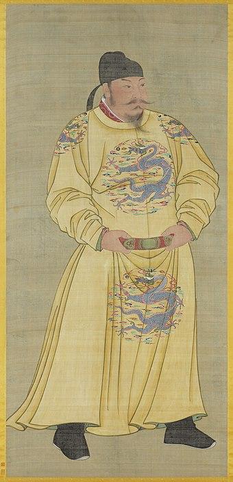 唐の有名な太宗皇帝(r。626–649);  皇帝は伝統的な中国社会の頂点を代表し、士大夫のそれを上回っていました。