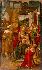 Adoration of the Magi to the Child Jesus