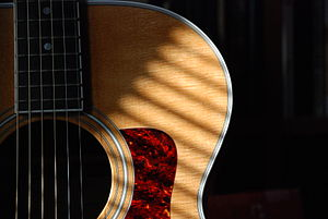 Taylor steel-string guitar.