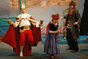 English: Purim performance at the Jewish Theat...