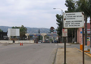 Tecate, California - Mexico-United States border crossing from Tecate, California