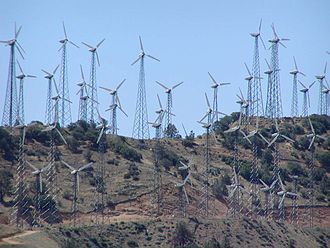 Tehachapi Pass wind farm - Tehachapi Pass wind turbines