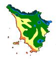 Temperatura media gennaio Toscana 1961-1990.PNG