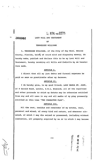 Last will and testament of Tennessee Williams Tennessee williams will.jpg