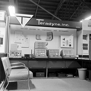 Teradyne - Teradyne's tradeshow booth showcasing the company's flagship product that went on to launch the semiconductor ATE industry, circa 1964.