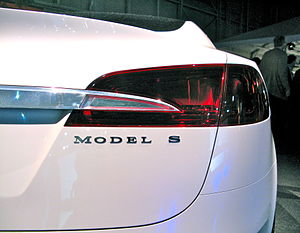 Tesla S, close-up on the rear.