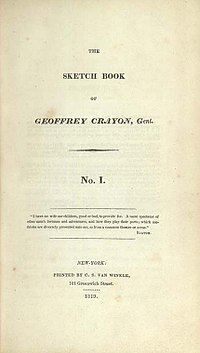The Sketch Book of Geoffrey Crayon, Gent. cover