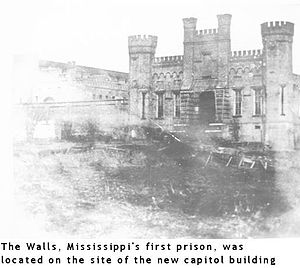 "Mississippi Department of Corrections - ""The Walls"" was Mississippi's first prison, located in central Jackson."