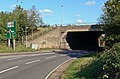 The A14 passes under the M1 - geograph.org.uk - 594152.jpg