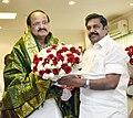 The Chief Minister of Tamil Nadu, Shri Edappadi K. Palaniswami calls on the Union Minister for Urban Development, Housing & Urban Poverty Alleviation and Information & Broadcasting, Shri M. Venkaiah Naidu, in New Delhi.jpg