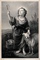 The Christ Child as the Good Shepherd. Lithograph by R. Leit Wellcome V0034044.jpg