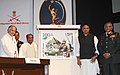 The Defence Minister, Shri A. K. Antony unveiled the commemorative stamp on the occasion of Corps of Signals Centenary celebrations, in New Delhi on February 17, 2011.jpg