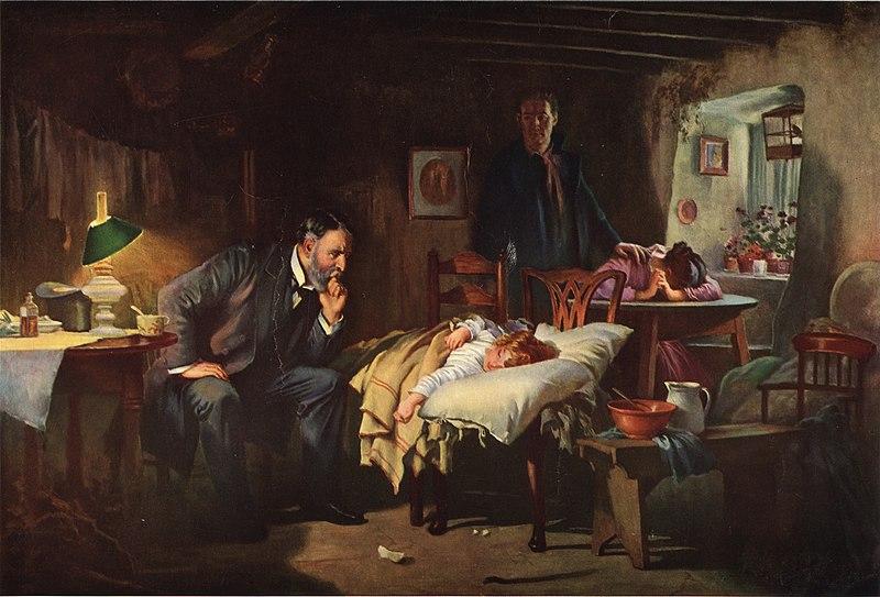 קובץ:The Doctor - Joseph Tomanek, after Luke Fildes.jpg