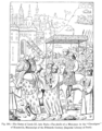 The Entry of Louis XI into Paris Fac simile of a Miniature in the Chroniques of Monstrelet Manuscript of the Fifteenth Century Imperial Library of Paris.png