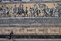 The Fürstenzug (Procession of Princes) mural at the outer wall of the Stallhof (Stables Courtyard) of Dresden Castle. Dresden, Germany, Western Europe, January 9, 2014-3.jpg