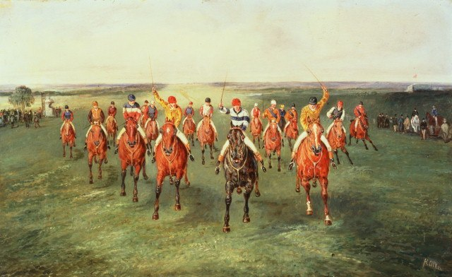 The Finish of the Two Thousand Guineass at Newmarket Samuel Henry Alken
