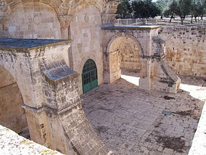 Golden Gate (Jerusalem) - The Golden Gate from within the Mount