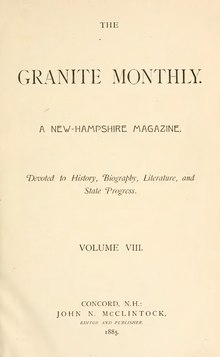 The Granite Monthly Volume 8.djvu