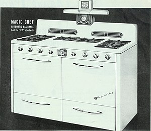 Magic Chef - Ad for a Magic Chef gas range (1948)