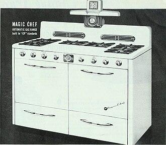 Magic Chef - Ad for a Magic Chef gas range (1948)